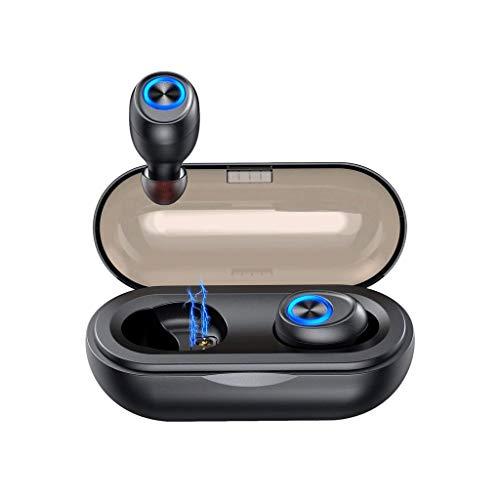 NXYJD Auriculares Bluetooth Auriculares con Control táctil de Carga inalámbrica Caso estéreo Impermeable Auriculares en la Oreja con el micrófono Incorporado Auricular de Nivel Superior Deep Bass for
