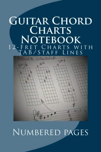Guitar Chord Charts Notebook: Blank 12-Fret Charts With TAB/Staff Lines