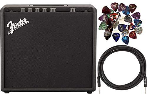 Fender Mustang LT25 1x8' Digital Electric Guitar 25-Watt Combo Amplifier Bundle...