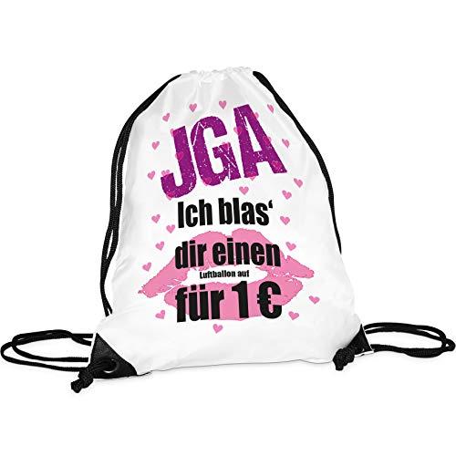 Tassendruck Stoffbeutel - Ich blas´ dir einen Luftballon - Junggesellinnenabschied/JGA/Party/Spaß/Rucksack/Turnbeutel/Gym-Bag
