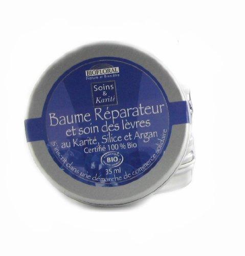 Biofloral Baume réparateur/soin des lèvres Silice, Argan, Cire d'abeille 35ml