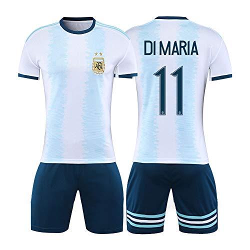 # 11 Di MaríA 20-21 Argentinien Heim- und Auswärtsfußballtrikot - Wicking kurzärmeliges Teamtrikot für Herren 2-teiliges Set Schnelltrocknendes Geschenk S-XXL-Home- XXL (185~190CM)