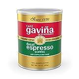 Cafe Gavina Decaf Espresso Roast Extra Fine Ground Coffee, 100% Arabica, 10-Ounce Can