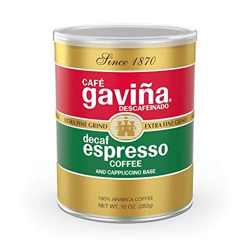Café Gaviña Decaf Espresso Roast Extra Fine Ground Coffee, 10-Ounce Can