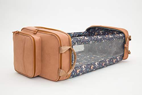 Bizzi Growin Vegan Leather Pod RucPod Porcini - Baby Changing Bag/Crib
