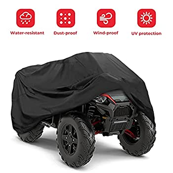 kemimoto ATV Cover Water-Resistant Four Wheeler Cover with Elastic Base Wrap Outdoor Storage Weatherproof Quad Cover Keeps 4 Wheeler Away from Snow Rain or Sun Large 100   x43   x 47