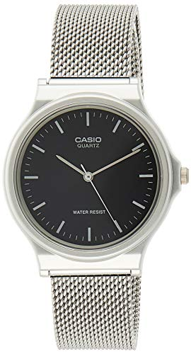 Casio Reloj Analógico para Unisex Adultos de Cuarzo con Correa en Acero Inoxidable MQ-24M-1EEF