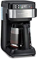 Hamilton Beach Works with Alexa Smart Coffee Maker, Programmable, 12 Cup Capacity, Black and Stainless Steel (49350) – A...