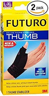 Futuro Deluxe Thumb Stabilizer L-XL Moderate, 45844EN - 1 each, Pack of 2