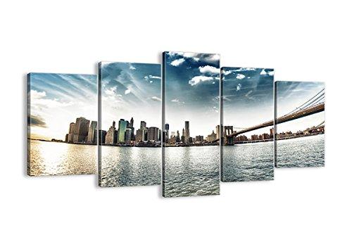 ARTTOR Quadri Moderni Soggiorno - Stampe su Tela: Quadro Soggiorno - Immagine in più Dimensioni - Home Decor - Various Graphic Themes - EA160x85-2430