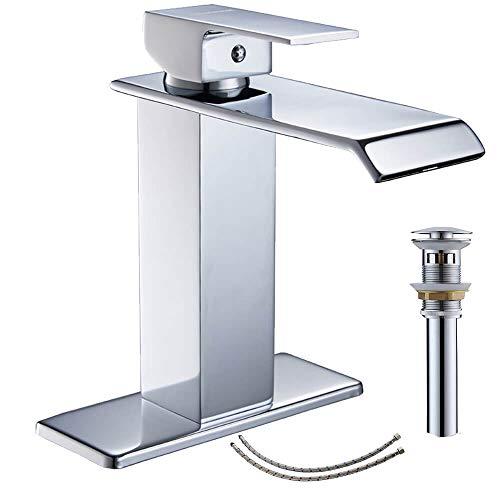Homevacious Bathroom Faucet Chrome With Pop Up Drain Bath Sink Vanity Centerset Single Hole Lavatory...