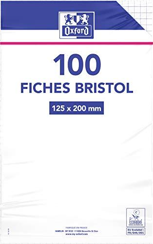 Oxford 100101367fichas bajo película no perforadas cuadros pequeños 5X 5100fichas 12,5x 20cm), color blanco