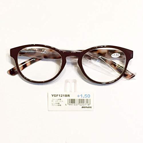 YGF121 BONOX ダルトン おしゃれ 老眼鏡 シニアグラ Reading Glasses (BR(BROWN), 1.5)