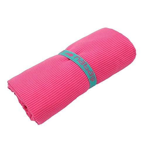 Nabaiji Mikrofaser Handtuch rosa L gestreift Reisen Sport Schwimmen Wandern Schnelltrocknende Tücher aus Mikrofaser Ultra-leicht Strand Gymnastik Superabsorbierende Handtücher 80cm X 130cm