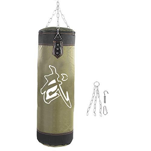 Vobor Sacco di Sabbia per Boxe da Allenamento Vuoto Hook Kick Boxing Sandbag, Lotta Karate Punch Punzonatura Sacco di Sabbia Sacco di Sabbia(1m-Verde)