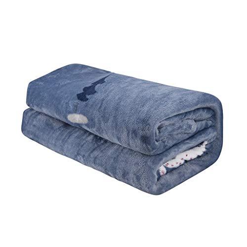 Decke hochwertige Wohndecken Mit Motiv, Dicke warm Sofa/Couchdecke in zweiseitig, flausch Fleecedecke als Sofaüberwurf oder Wohnzimmerdecke TV-Decke Kuscheldecke in vielen Größen (D, 120X200CM)