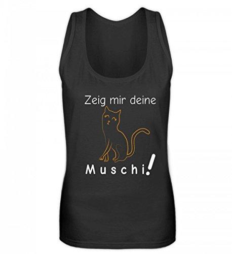 Zeig Mir Deine Muschi (Katze) | Katzenliebhaber Katzenfreunde Katzen-Freunde Geschenk - Frauen Tanktop