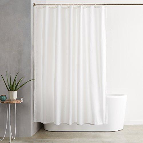 Amazon Basics Polyester Shower Curtain, 72''x72'', White