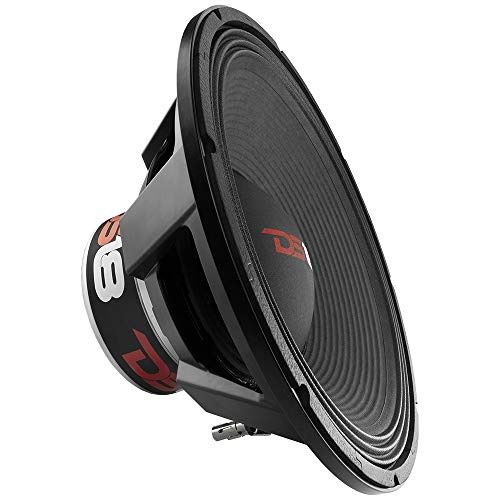 """DS18 PRO-BX18N.2D Car Subwoofer Audio Speaker - 18"""" in Neodymium Magnet, 6"""" Dual Voice Coil, 4 Ohm Impedance, 2500W Rms Power, 5000W Max Power - Reinforced Paper Cone for Outstanding Performance"""