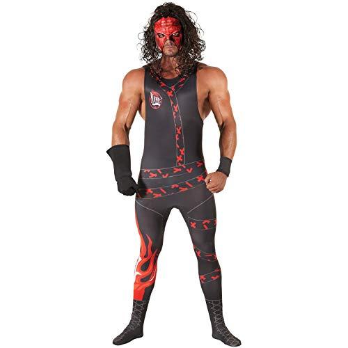 Morph con Licencia clsico WWE Kane Adultos Disfraces de Halloween Carnaval Disfraz - XL
