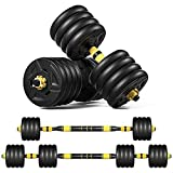 Lutss 88 lb Dumbbells Hand Weights Set of 2 - Vinyl Coated Exercise & Fitness Dumbbell for Home Gym Equipment Workouts Strength Training Free Weights for Men (40KG)