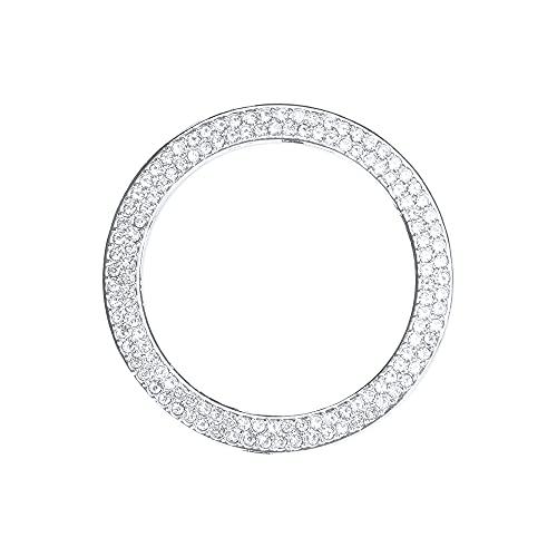 BLINGOOSE für Benz Autozubehör Mercedes-Benz B C E S Klasse CLS GLE GLK GLS SLC Sparkly Zündknopf Ring Aufkleber Kristall Silber