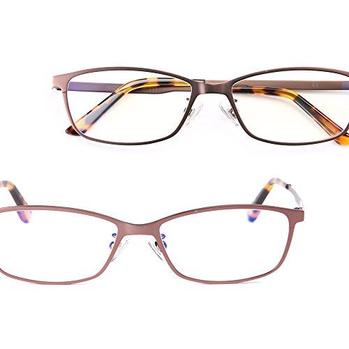 ミディの洗練スマホ老眼鏡 (チタン/スクエア) / 「+0.5」の老眼鏡 レンズ度数?1.0でも強いと感じる老眼鏡ユーザーに / 老眼鏡 0.5 拡大鏡 リーディンググラス シニアグラス ブルーライトカット オシャレ おしゃれ メンズ (m311,+0.5