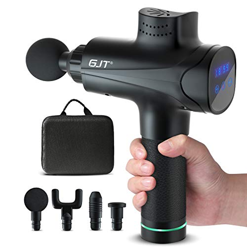 Deep Tissue Massage Gun for Athletes, GJT Deep Tissue Percussion Muscle Massager Deep Muscles Massage Massagers Gun Portable Massager Gun for Pain Relief, Relaxation