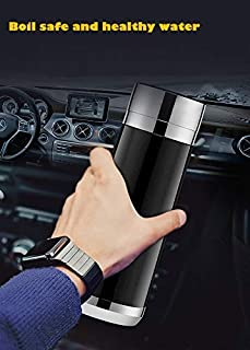 VIPCARE Vacuum Insulated Stainless Steel Travel Mug 380mL Temperature Control Boil Keep Warm,In-Car Heated Mug
