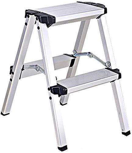YZH Escaleras portátiles Ligeras Escalera Plegable de Alumi