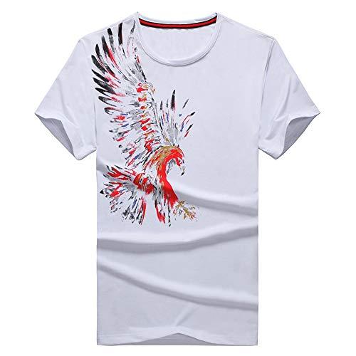 NOBRAND - Camiseta de manga corta de algodón, diseño clásico para jóvenes