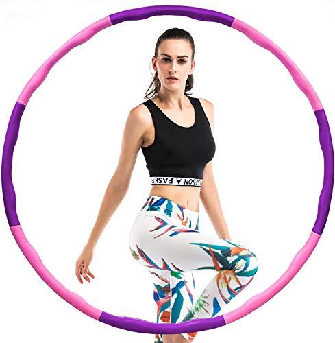 BENEFAST Aro de hula hoop para adultos para pérdida de peso y masaje, extraíble, 8 unidades, para fitness, hogar y oficina