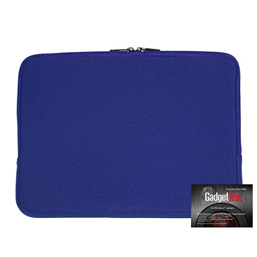 """SlipIt 14"""" Laptop Sleeve with 1 Year Free GadgetTrak Subscription. A $19.95 Value."""