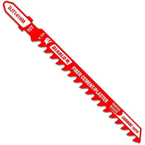 Diablo DJT141HM 4 in. 6 TPI Carbide T-Shank Jig Saw Blade for Fiber Cement & Plaster
