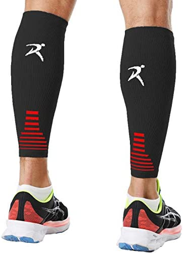 Rymora Calf Compression Sleeves Men Women Shin Splints Running Pair Black M product image