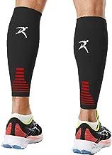 Rymora Calf Compression Sleeves Men Women Shin Splints Running (Pair Black) (M)