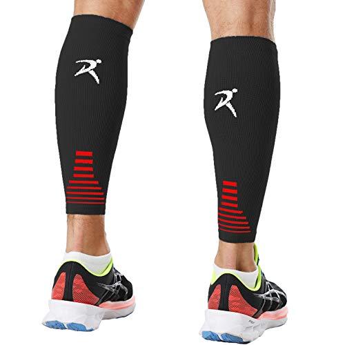 Calf Compression Sleeves Men Women Shin Splints Running (Pair Black) (XS)