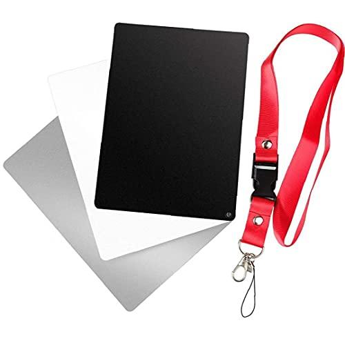 Gråa kort digital balans vit svart kort 3-i-1 kreativt utseende exponering fotografi kamera schack