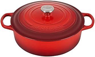 Le Creuset Enameled Cast Iron Signature Round Wide Dutch Oven, 6.75 qt., Cerise