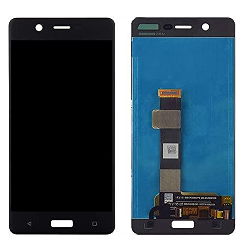 Kit de accesorios para Nokia 5 TA-1024 TA-1027 TA-1044 TA-1053 Pantalla LCD táctil digitalizador Asamblea de reemplazo del panel de pantalla del teléfono (color: negro) reemplazo (color: negro)