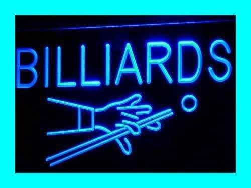 Lichtfluter i309-b Billiards Pool Neon Light sign Barlicht Lichtwerbung Neonlicht