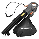 Terratek Leaf blower Garden Vacuum and Shredder, 35L Leaf Collection Bag, 3000W 10m