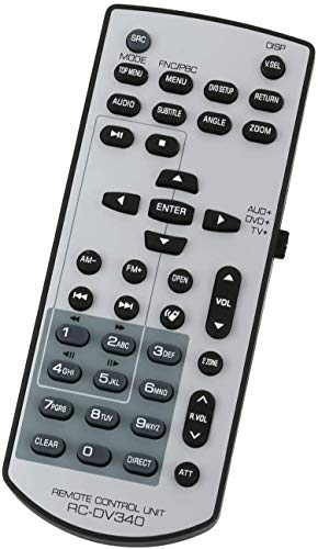 Baatogoo RC-DV340 Remote Control Replace for Kenwood DDX318 DDX418DDX6034 DDX719DDX7049BT DDX4049BT DDX7049BT DDX514 DNX6000EX DNX5140 KVT-636DVD KVT-516