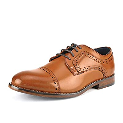Bruno Marc Big Kid Prince_K_1 Brown Boy's Classic Oxfords Dress Shoes Size 4 M US Big Kid