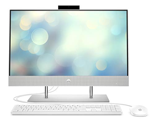 HP Pavilion 24-k0019ng (23,8 Zoll / Full HD) All-in-One PC (AMD Ryzen 7 4800H, 16GB DDR4 RAM, 1TB HDD, 512GB SSD, AMD Radeon 7 Grafik, Windows 10) weiß