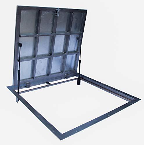 Trampilla de suelo 900 mm x 1000 mm(P) – Bisagras laterales, para...
