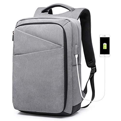 Backpack Anti-Theft, Business Laptop Rucksack Herren Damen Schulrucksack USB Rucksäcke (Farbe : Gray, größe : One Size)
