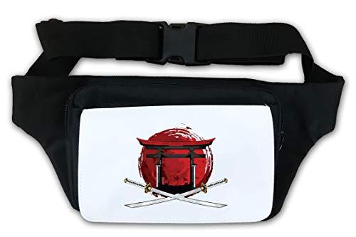 Samurai Katana Sunset Torii Gate Waist Bag