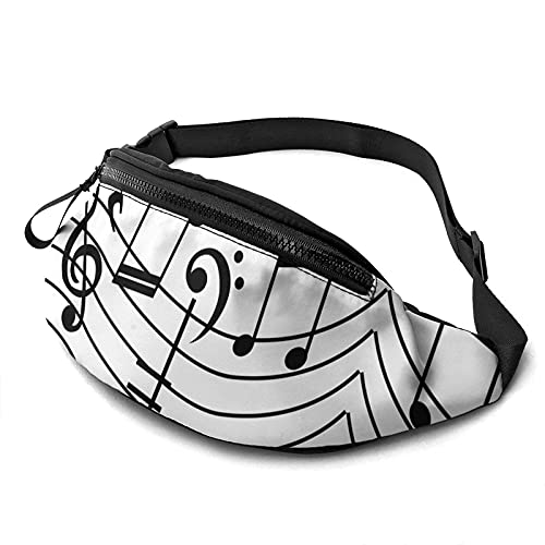 Marsupio Discovery Wild Music Notes Waist Bag With Adjustable Strap Hip Bum Bag For Man Women Outdoors Sports Running Gym Traveling