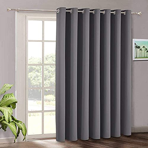 Blackout Patio Door Curtains Bedroom - Home Decor Grommet Curtain Thermal...